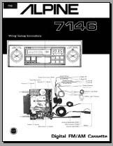 alpine 7146 wiring connection diagram analog alley manuals. Black Bedroom Furniture Sets. Home Design Ideas