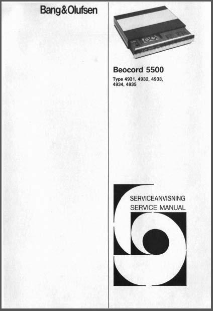 Bang  U0026 Olufsen Beocord 5500 Service Manual  Analog Alley Manuals
