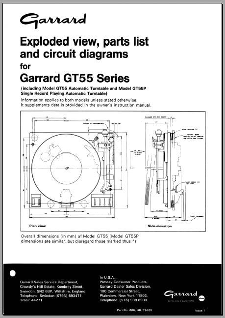 Garrard Gt55   P Service Manual  Analog Alley Manuals