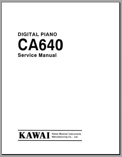 kawai ca640 service manual  analog alley manuals