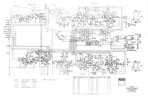 Nad 3125 Preliminary Schematic  Analog Alley Manuals