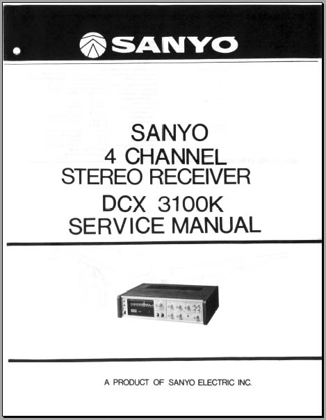 sanyo dcx 3100k service manual  analog alley manuals