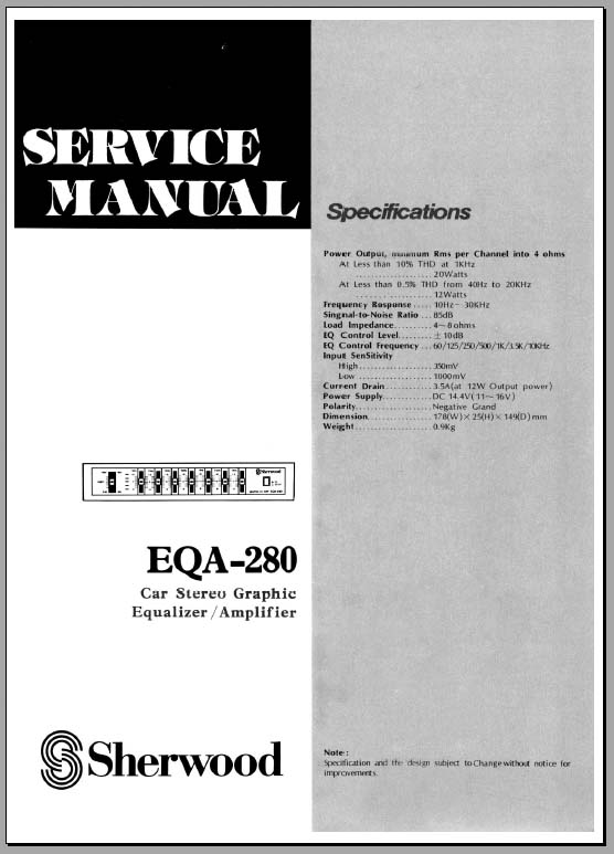 sherwood_eqa-280 Blaupunkt Equalizer Wiring Diagram on