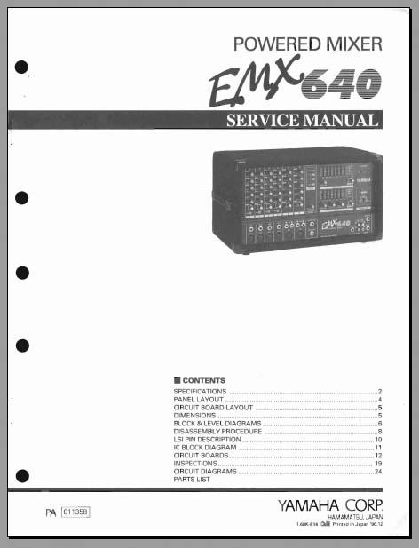 Yamaha Emx  Service Manual