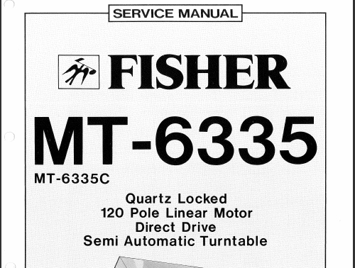 Fisher Mt 6335 Service Manual Analog Alley Manuals