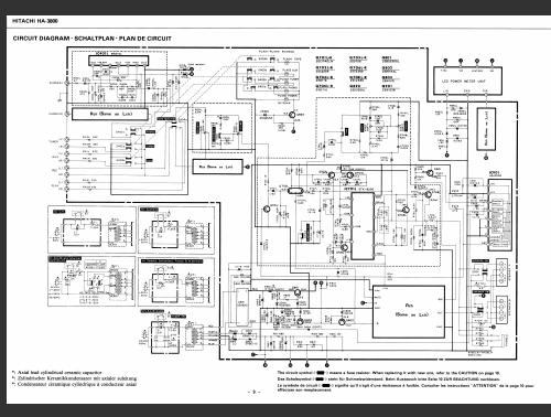 Hitachi    HA3800    Schematic       Diagram     Analog Alley    Manuals