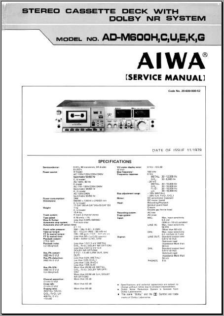 aiwa ad m600 service manual analog alley manuals aiwa stereo wiring diagram