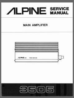 alpine 3505 analog alley manuals. Black Bedroom Furniture Sets. Home Design Ideas