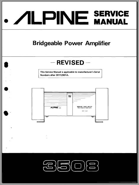 alpine 3508 30112901a service manual  analog alley manuals