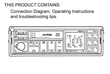 alpine 7930 e instructions analog alley manuals. Black Bedroom Furniture Sets. Home Design Ideas