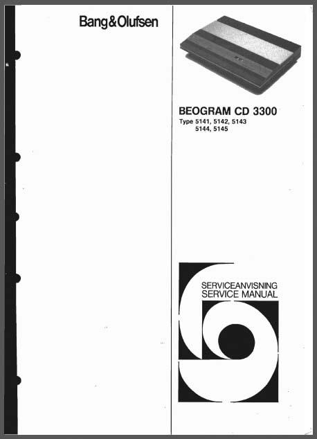 Bang  U0026 Olufsen Beogram Cd 3300 Service Manual  Analog