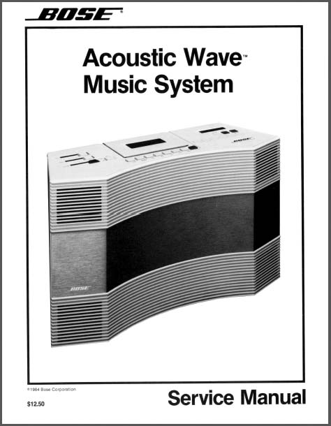 bose acoustic wave music system s n 899 analog alley manuals. Black Bedroom Furniture Sets. Home Design Ideas