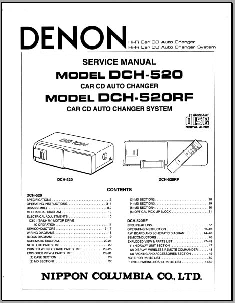denon dch operators manual  analog alley manuals