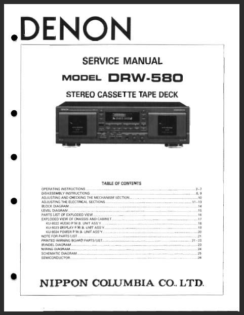 Denon DRW-580 manual, Analog Alley Manuals