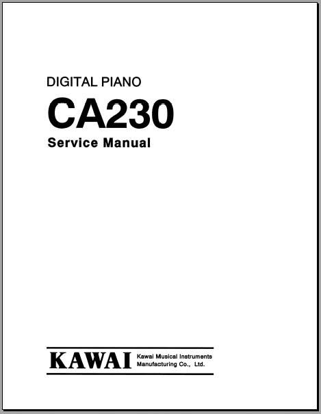 kawai ca 230 service manual  analog alley manuals