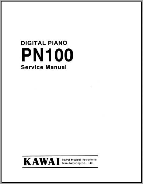kawai pn100 service manual  analog alley manuals