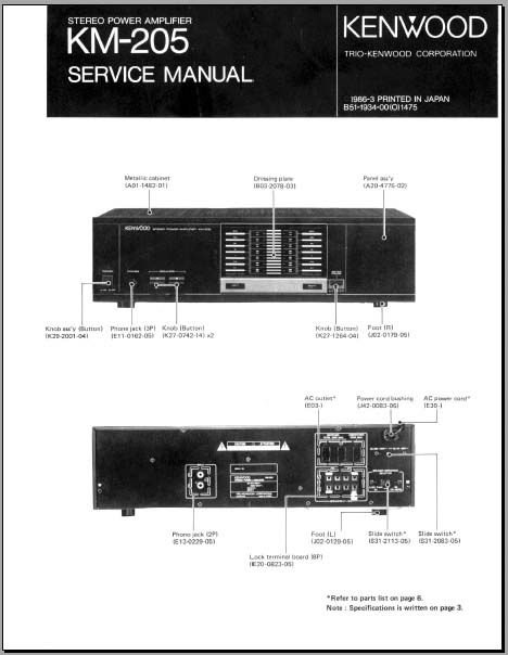 Kenwood amplifier User manual