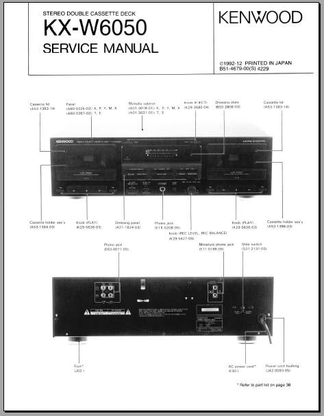 kenwood kx w6050 service manual  analog alley manuals