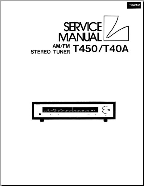luxman t450  t40a service manual  analog alley manuals
