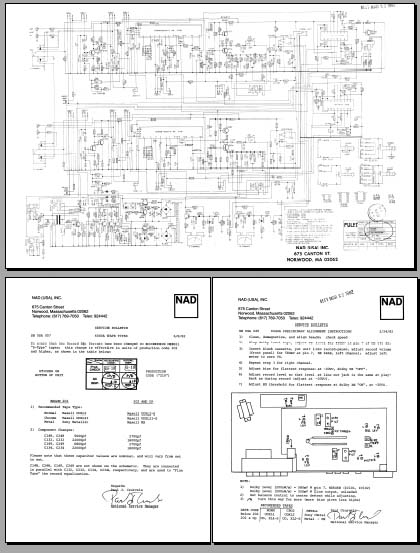 nad 6040a schematic diagram  u0026 bulletins  analog alley manuals