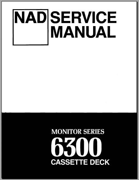 Download nad 6300 service manual.
