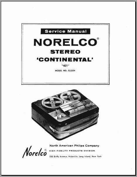 norelco stereo continental 401 model  el3534  analog alley