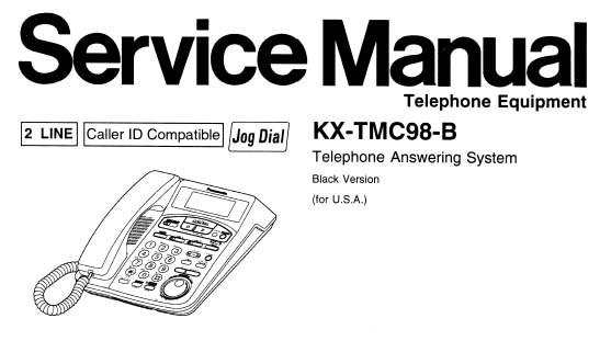 Panasonic Kx Tmc98 B Manual Analog Alley Manuals
