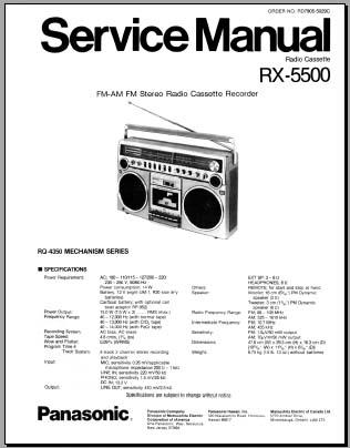 Panasonic rx ds25 Manual