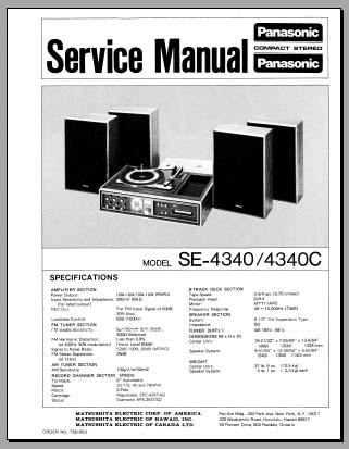 panasonic se 4340 c service manual analog alley manuals
