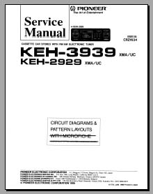 pioneer keh 2626 2929 3939 analog alley manuals