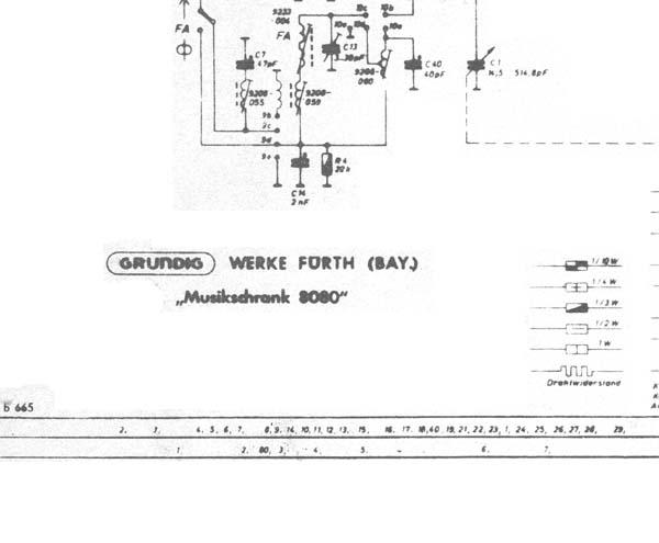 Grundig 8080 Schematic Diagram  Analog Alley Manuals