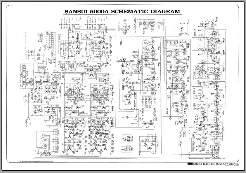 sansui 5000a receiver schematic diagram  analog alley manuals