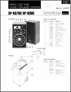 Sansui SP X6700 X6300 Service Datasheet Analog Alley Manuals