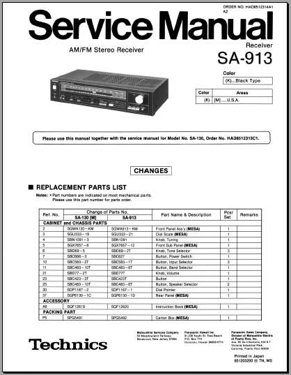 Technics Sa Dx940 Manual Pdf