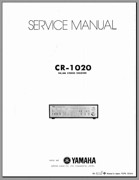 Yamaha Cr 1020 Service Manual Analog Alley Manuals
